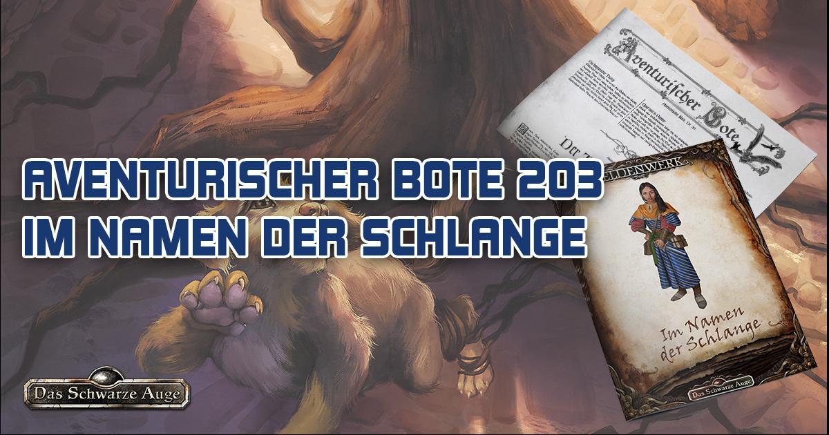 """Aventurischer Bote 203 + Heldenwerk """"Im Namen der Schlange"""""""