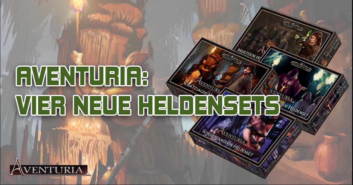 Aventuria: Vier neue Heldensets — Vier neue Abenteuer