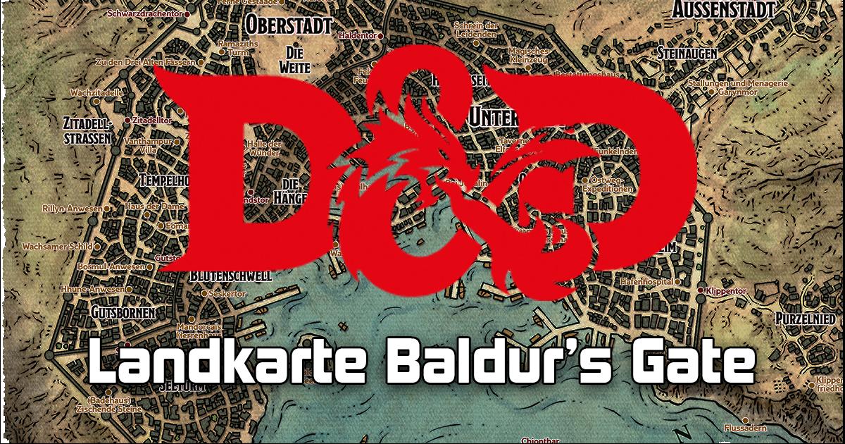 Dungeons & Dragons: Landkarte Baldur's Gate