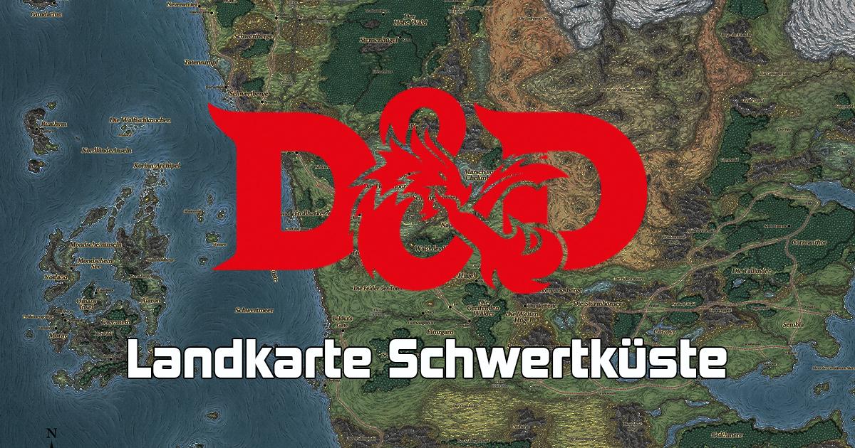 Dungeons & Dragons: Landkarte Schwertküste