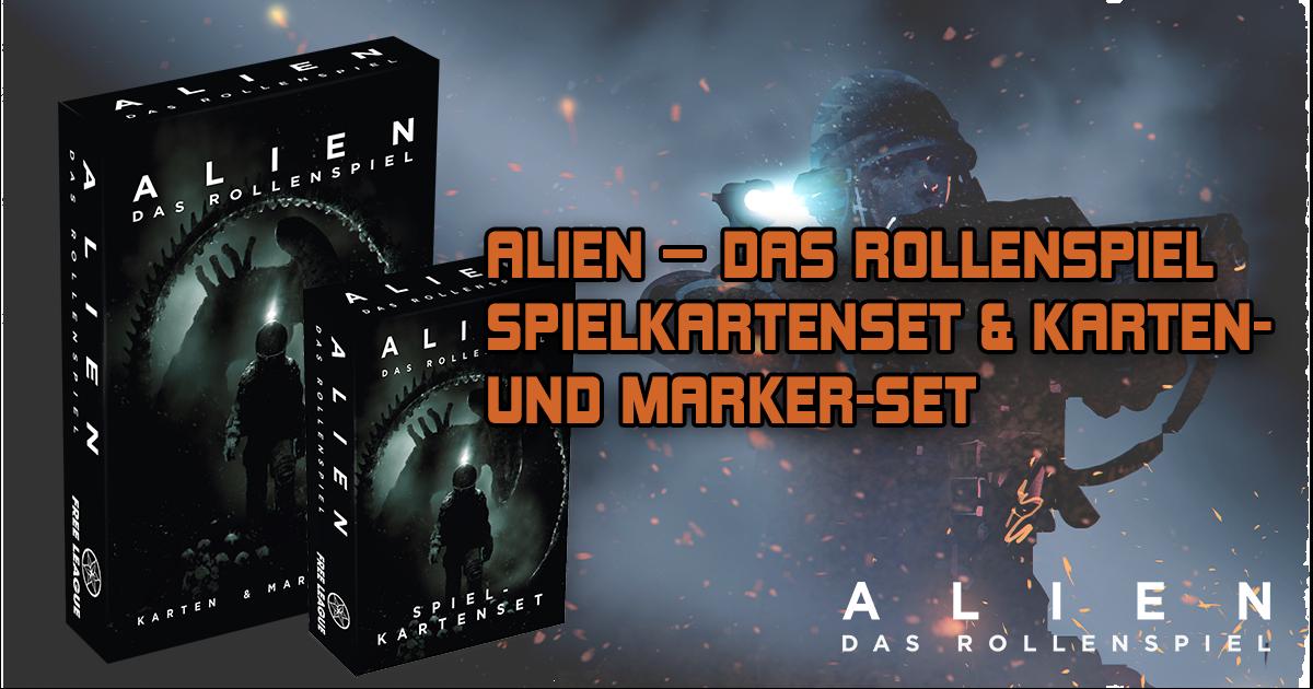 ALIEN — DAS ROLLENSPIEL: Spielkarten & Karten- und Marker-Set