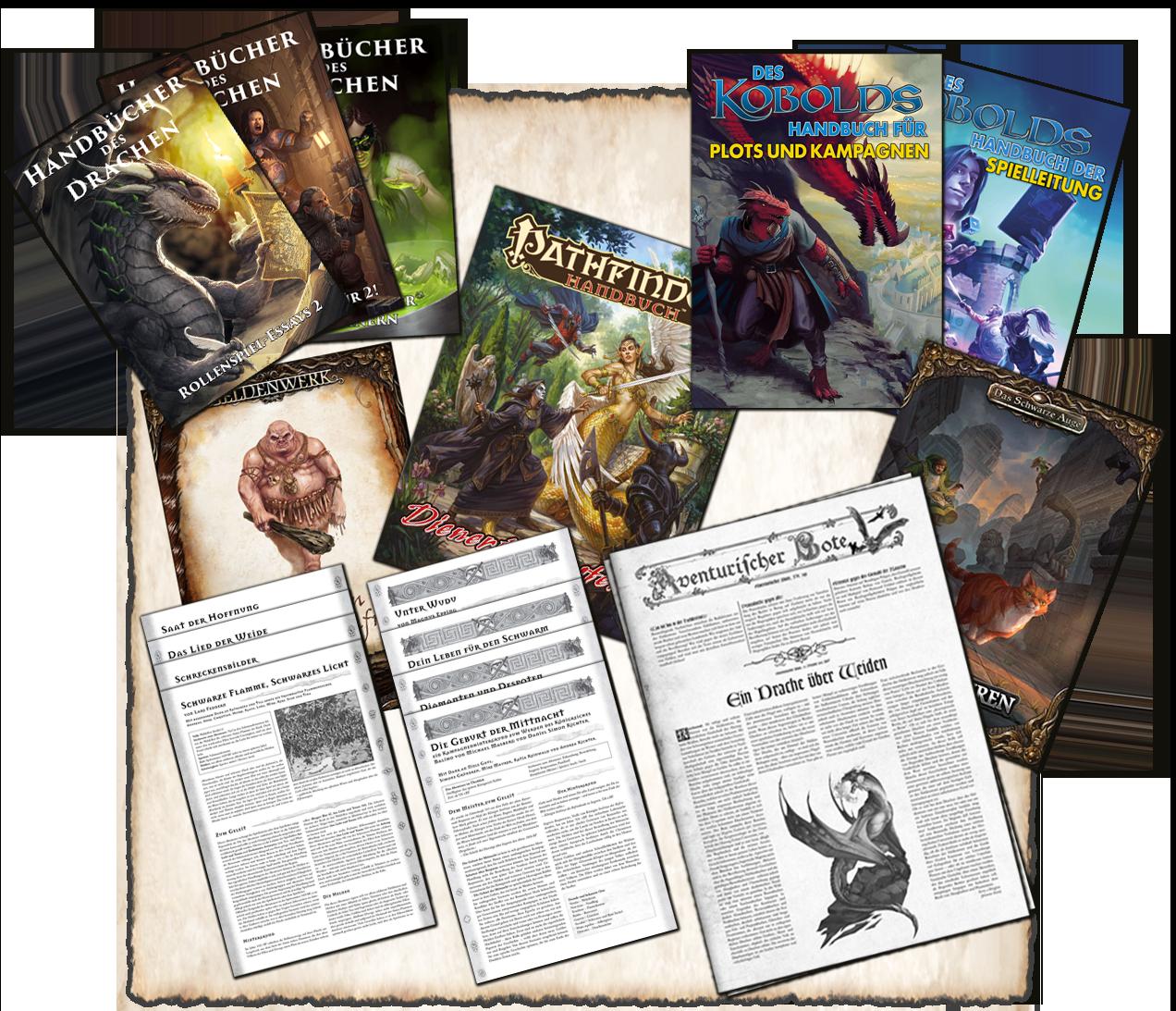 """Neues im Digitalschuppen – Handbücher des Drachen II, des Kobolds Handbücher, DSA5 Abenteuer """"Krallenspuren"""", Heldenwerke und weiteres!"""